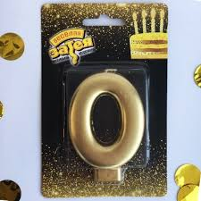 "<b>Свеча</b> -<b>цифра</b> ""0"" Золотая, 8 см - купить, цена с доставкой в ..."