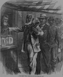 the evolution of the franchise  voting through the years  this     drawing depicting the first vote by african americans