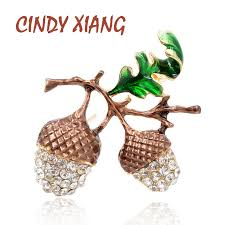 <b>CINDY XIANG New Arrival</b> Pine Nuts Brooches for Women Cute ...