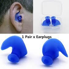 1 Pair Soft <b>Ear</b> Plugs <b>Silicone Waterproof Dust-Proof</b> Diving ...