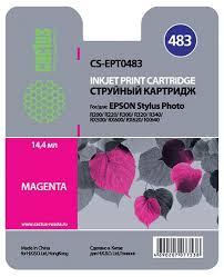 <b>Картридж Cactus CS-EPT0483</b>, пурпурный, для струйного принтера