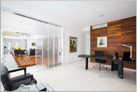 office with wooden wall panel and white paint color black furniture mesh back dental office awesome office design
