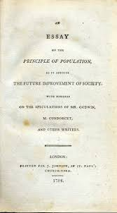 climate human population and human survival what the deep past  the title page to thomas malthuss famous essay on population