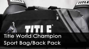 Title World Champion Sport <b>Bag</b> Back/Pack 2.0 - YouTube