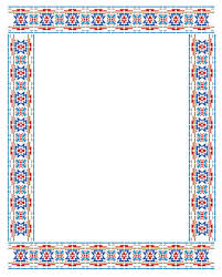 Above  The Aztec Border Stencil Is Repeated Twice And Rotated 90 Degrees To Create A Frame Effect Colours As Above