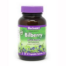 <b>standardized bilberry fruit</b> extract 60 vegetable capsules