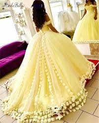 <b>modabelle</b> 3D Flowers Yellow Evening Dresses Abendkleider ...