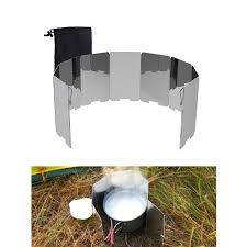 <b>8</b>/9/10/12 <b>Plate Foldable</b> Outdoor Camping Wind Shield Screen for ...