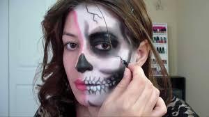half skull makeup tutorial for