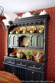 ideas china hutch decor pinterest: fall decorated hutch  fall decorated hutch