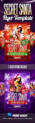 secret santa party flyer template christmas parties snowflakes buy secret santa party flyer template by themediaroom on graphicriver a sexy fun christmas party flyer template for any party nightclub event