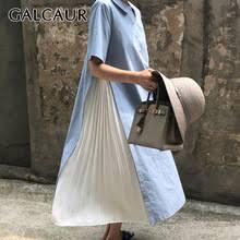 Женское плиссированное <b>платье</b> с отложным воротником ...