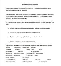 example of a argumentative essay   argumentative essay examples   free  amp  premium templates balanced argumentative essay example