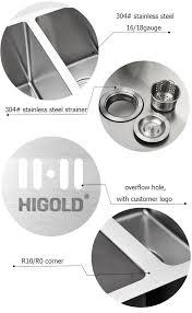 size sink kitchen stainless steel