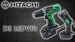 Аккумуляторный шуруповерт <b>HITACHI</b> DS 18DVF3 - YouTube