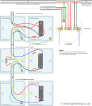 Wiring intermediate light switch