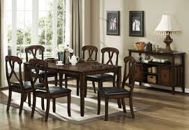 Transitional Dining Room Tables Distressed Oak Finish Transitional Dining Table W Optional Items