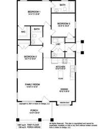 s Three Bedroom Ranch Floor Plans   Small Ranch House Plan      simple floor plans ranch style   SMALL RANCH HOME PLANS Â  Unique House Plans  Turn bdrm into Utility  enlarge kitch  amp  mstr bath