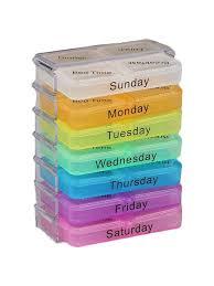 <b>Органайзер для таблеток</b>, 7 контейнеров на 4 приема ...