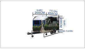 Smart shining <b>stainless mobile food van</b>