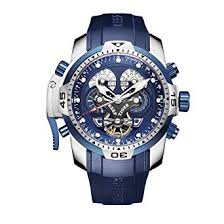 REEF TIGER Military Watches for Men Stainless Steel ... - Amazon.com
