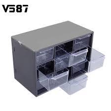 plastic 9 jewelry storage box mini debris cabinets lattice portable amall drawer sorting grid desktop office cheap office drawers
