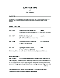 perfect objective in resume resume objectives how to write a    general resume objective examples for curriculum vitae with work experience resume objective   simple resume objective