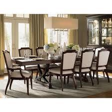 elegant square black mahogany dining table: westwood rectangular expandable dining table in ribbon stripe mahogany veneer dynamichome lexington dining