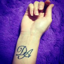 my first tattoo sisters tattoo d a stands for all our family my first tattoo sisters tattoo d a stands for all our family s parents