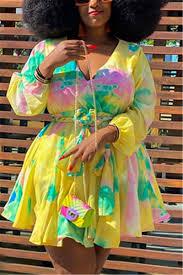 Yellow Fashion <b>Casual V Neck Long Sleeve</b> Regular Sleeve ...