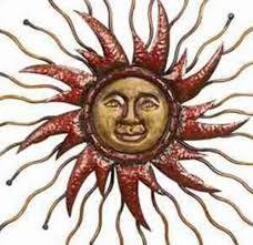 metal sun wall art makipera