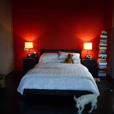 red wall paint black bed: red bedroom wall this is what our room will sort of look like eventually