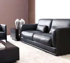 awesome black leather sofa set for modern style living room with track arm and glass top awesome contemporary living room furniture sets