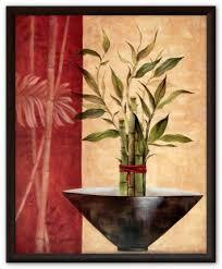 Картина (<b>репродукция</b>) - <b>Счастливый</b> бамбук I - <b>рама</b> Стиль Венге