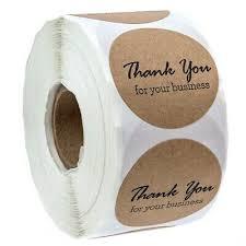 <b>1 Inch</b> Round <b>Kraft</b> Thank You For Your Business <b>Stickers</b>/500 ...
