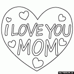 Small Picture Coloring Pages I Love You Mommy Dzrleathercom