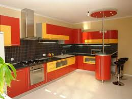 red yellow wall tiling
