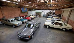 <b>Retro car</b> repair workshop