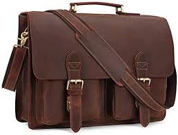 Amazon.com   Kattee <b>Handmade Genuine Leather</b> Laptop Briefcase ...