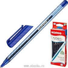 <b>Ручка</b> шариковая <b>Kores</b> К1, (0,7 мм), треугольный корпус, синяя