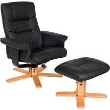 <b>TV armchair with</b> stool model 1 - leather armchair, lounge chair ...