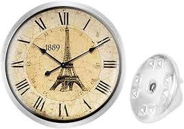 Custom Lapel Pin Brooches Clock Banquet Badge Pins <b>Trendy</b> ...