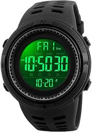<b>Mens</b> Digital LED <b>Sports Watch</b> Military <b>Multifunction</b> 12H/24H Dual ...