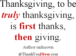 Thanksgiving Quotes, Sayings & Poems