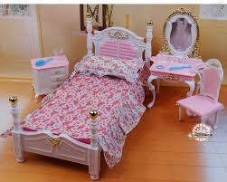 aliexpresscom buy free shipping doll furniture for barbie doll girl birthday gift diy toys pink princess bed dresser cupboard doll accessories from barbie doll furniture diy