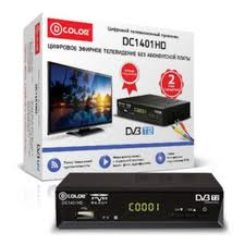 Ресивер <b>DVB</b>-<b>T2 D</b>-<b>COLOR DC1401HD</b> — купить в интернет ...