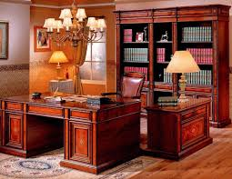 awesome apartment home office interior cherry wood home office