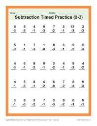 1000+ ideas about First Grade Math Worksheets on Pinterest | 1st ...first grade math | Subtraction Timed 0-3 | Kindergarten, 1st Grade Math Worksheets