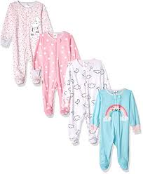 Gerber Baby Girls' 4-Pack Sleep N' Play: Clothing - Amazon.com