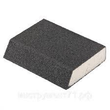 <b>Губка для шлифования</b>, <b>120 х 90 х 25 мм</b>, трапеция, мягкая, P 40 ...